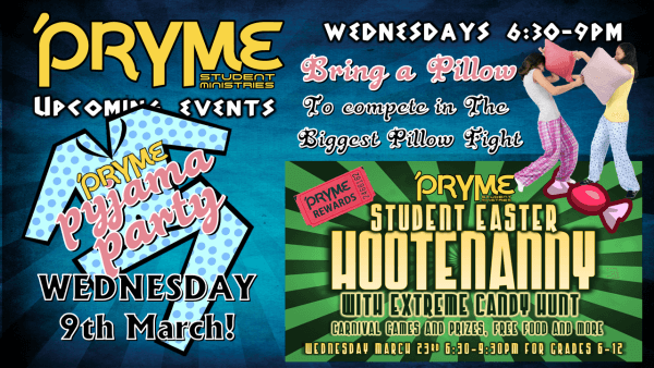 upcoming PRYME March 3